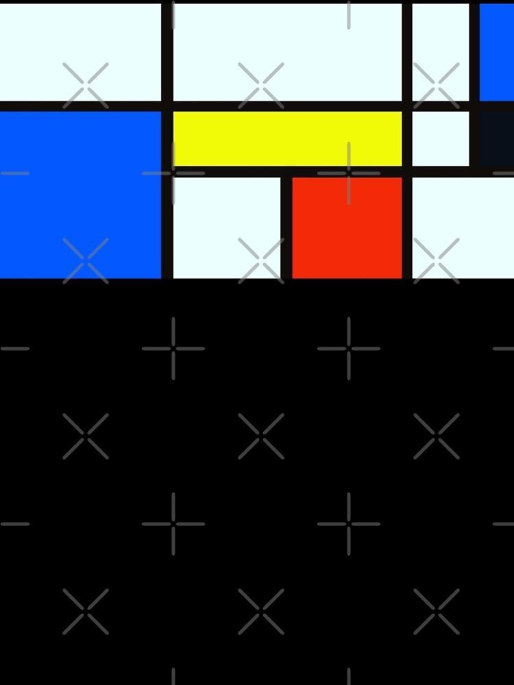 Piet Mondrian Composition A - Rectangle Modern Art Canvas by animateastory