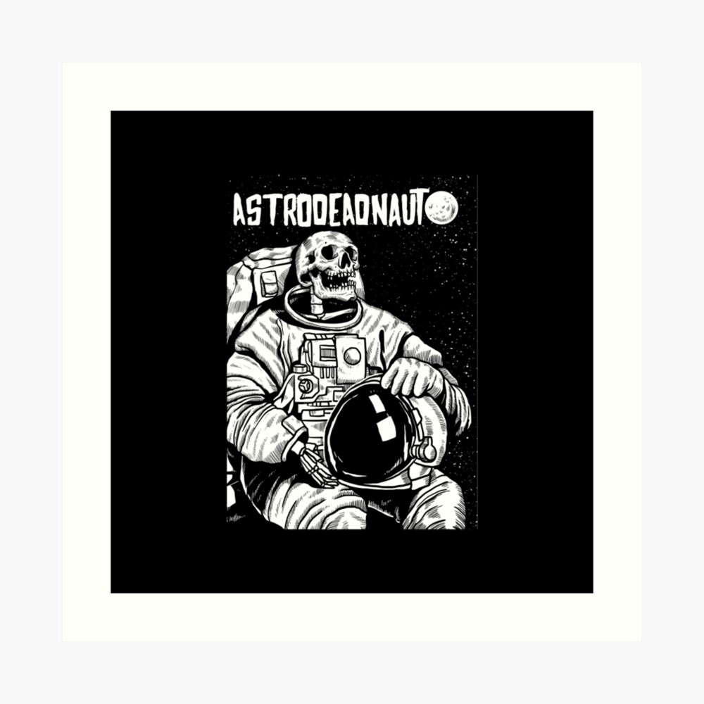 Der Astronaut - toter Astronaut Kunstdruck