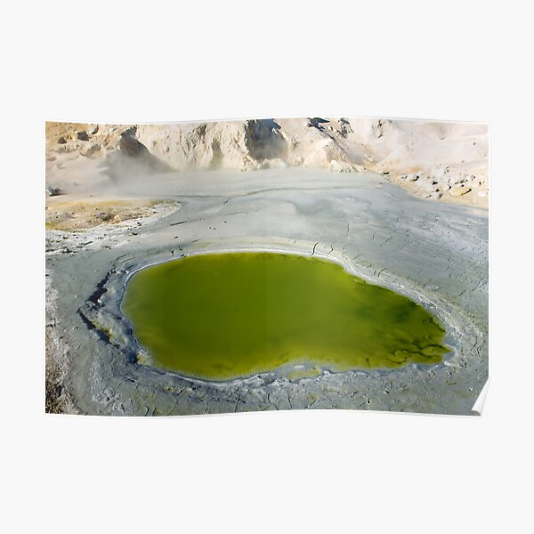 "Green Pool in ""Bumpass Hell"" Poster"