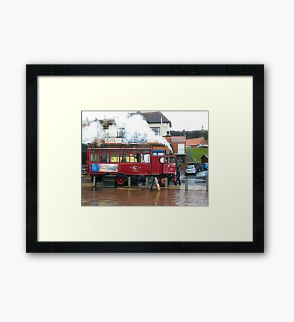 Whitby Steam Bus Framed Print