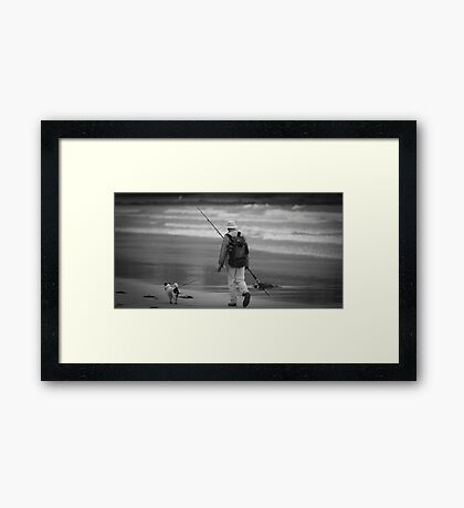 Mans Best Friend and Pastime Framed Print