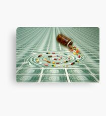 Cost Explosion in Healthcare Canvas Print