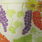Grapes And Daiseys by Linda Miller Gesualdo