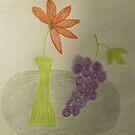 Grape Still Life by Linda Miller Gesualdo