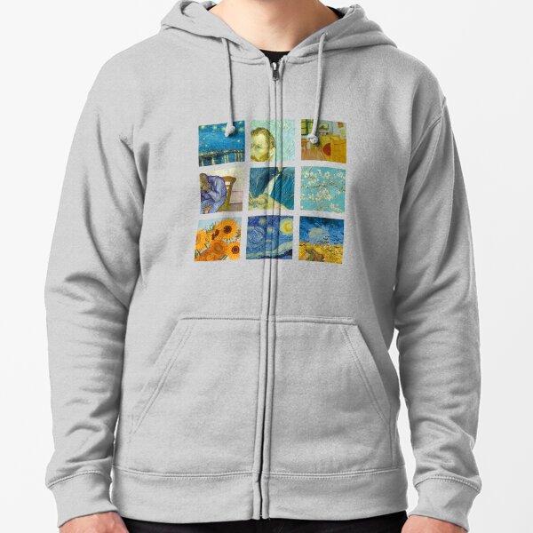 Vincent van Gogh  Sudadera con capucha y cremallera