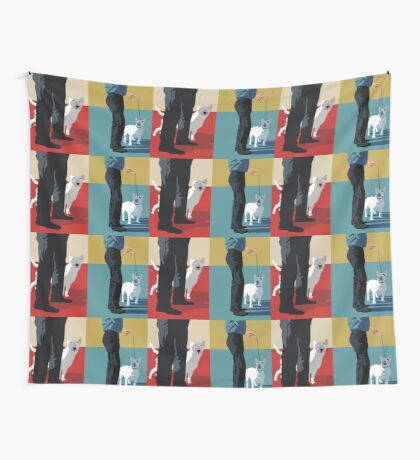 Bull terriers Wall Tapestry