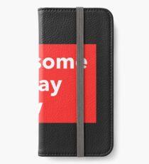Red Block iPhone Wallet/Case/Skin