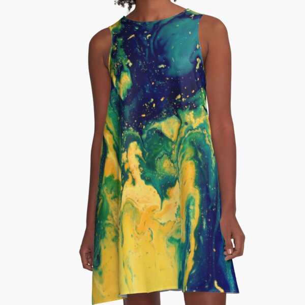 Abstract Magic 49 A-Line Dress