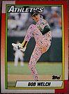 451 - Bob Welch by Foob's Baseball Cards