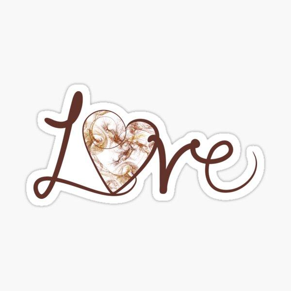 Fractal Love Sticker