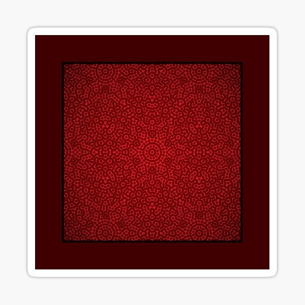 Pattern 039: Hex Moiré I RD Sticker