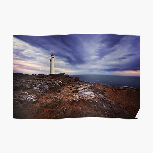 Evening storm at Cape Nelson - Portland Poster