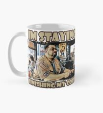 Ich bleibe, fertig meinen Kaffee Tasse (Standard)
