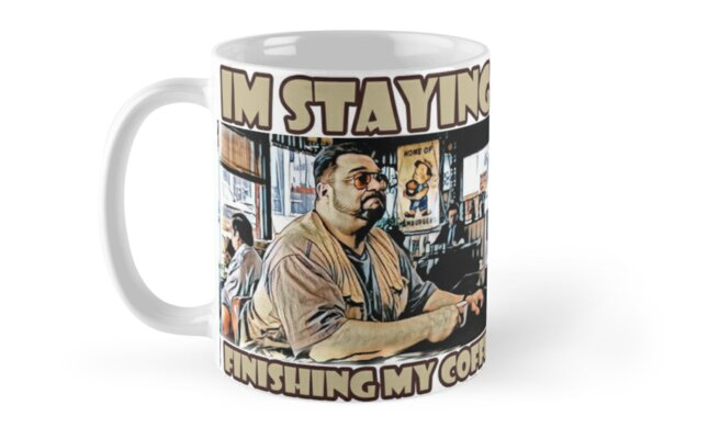 Im staying, Finishing my coffee by American  Artist