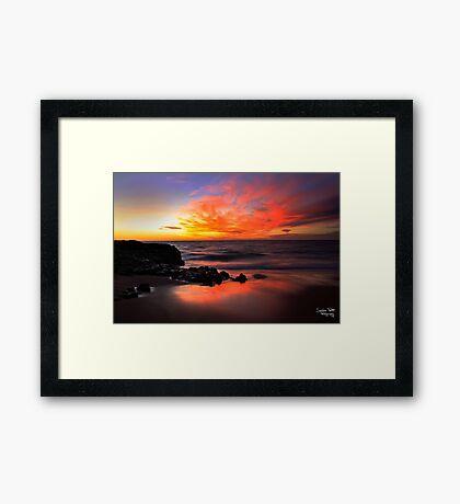 Fire on the Horizon Framed Print