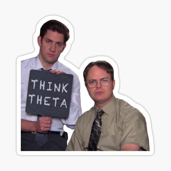 jim and dwight think theta Sticker