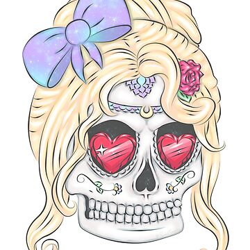 Beautiful Flower Sugar Skull, Day of the Dead by NicholiCosplay