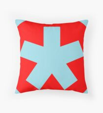 Choose the color of your clan (plain red) Throw Pillow