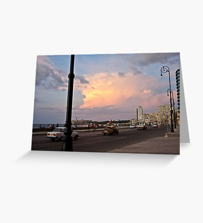Malecon's sunset Greeting Card