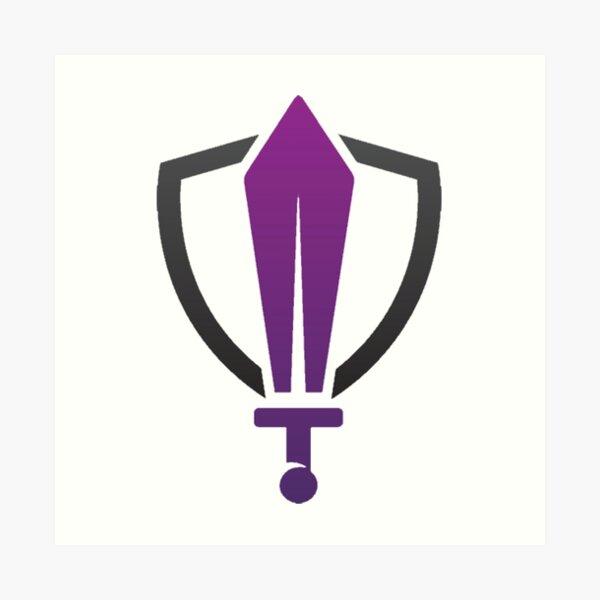 Sword and Shield Logo Art Print