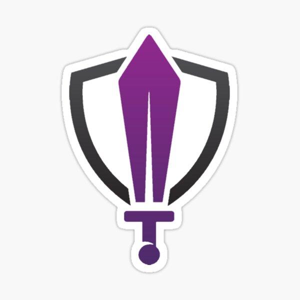 Sword and Shield Logo Sticker
