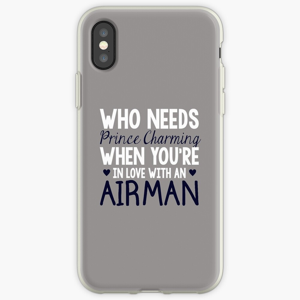 WHO NEEDS PRINCE CHARMING (AIRMAN) iPhone Cases & Covers