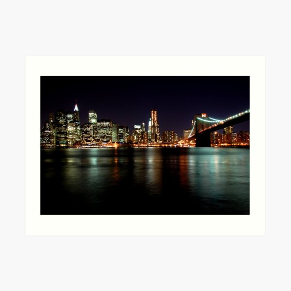 Manhattan at night Art Print