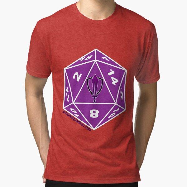 Purple Squad Security D20 Tri-blend T-Shirt