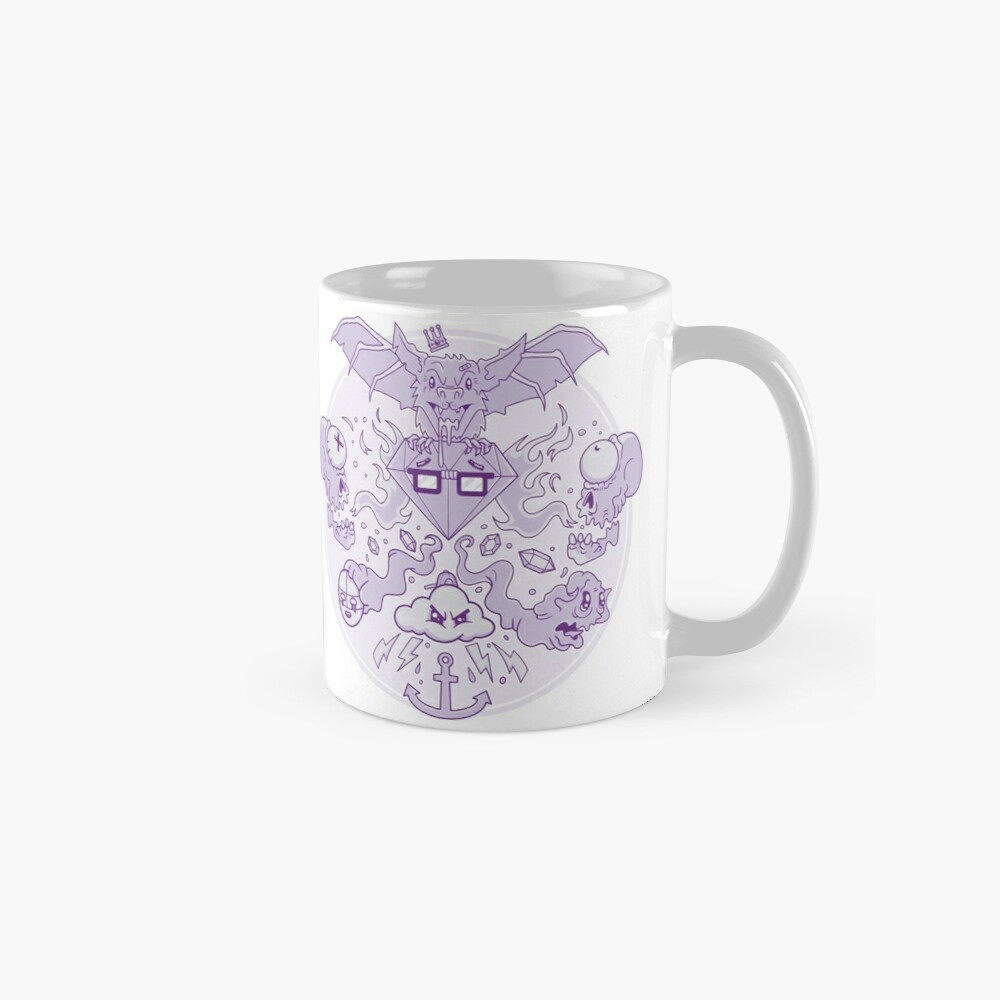 Ghastly Ghouls and Ghosts with Gems Mug