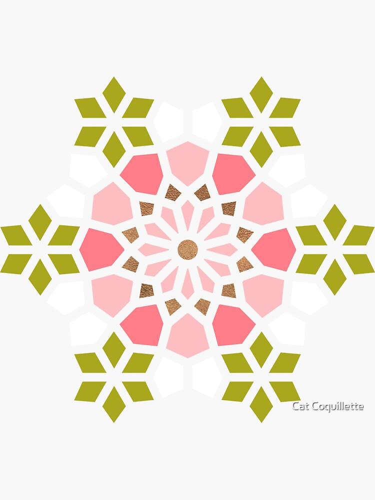Persian Mosaic – Pink & Sage Palette by catcoq