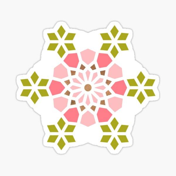 Persian Mosaic – Pink & Sage Palette Sticker