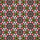 Persisches Mosaik - Pink & Sage Palette von Cat Coquillette