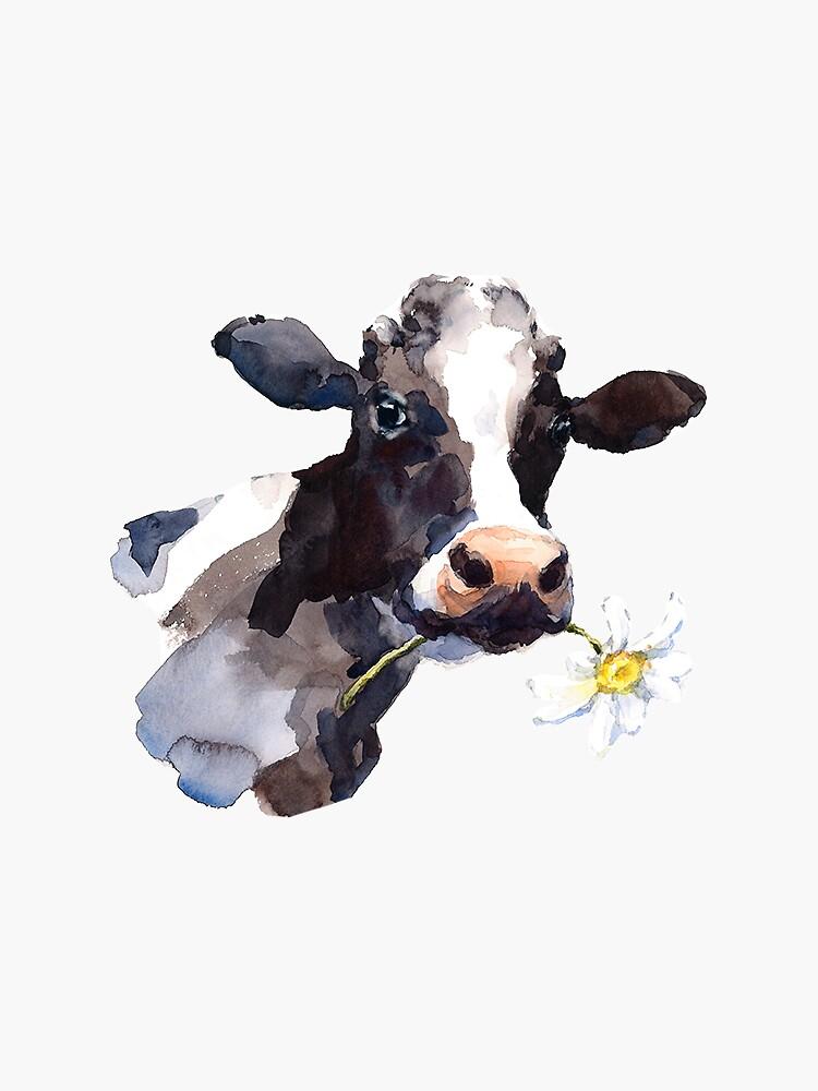 Cow with Daisy by juliachesnut
