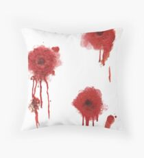 I got shot Throw Pillow