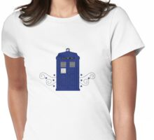 Police Box Swirls Womens Fitted T-Shirt