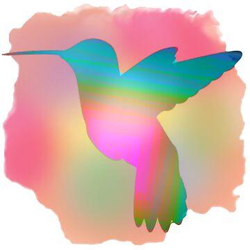 Hummingbird in multicolour by Hummingbirdnz