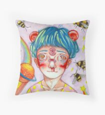 eye of jupiter Throw Pillow