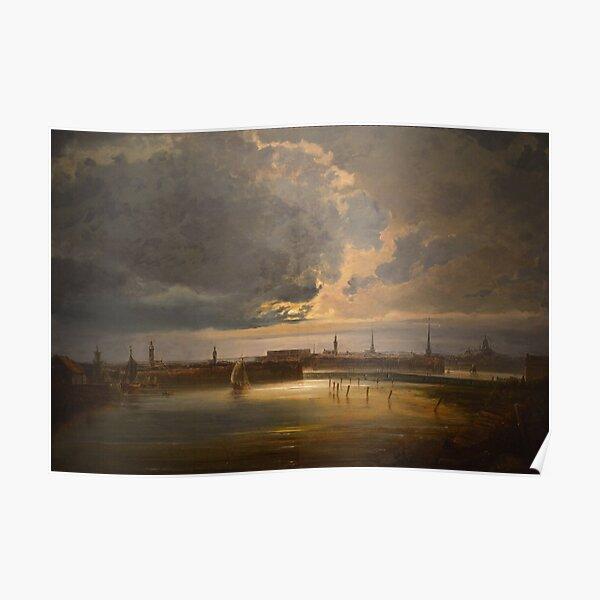 Moonlit View of Stockholm (Peder Balke) Poster