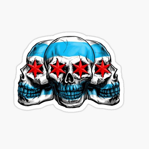Chicago Skulls Sticker