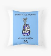Congratulations on your new PB for runner. Throw Pillow