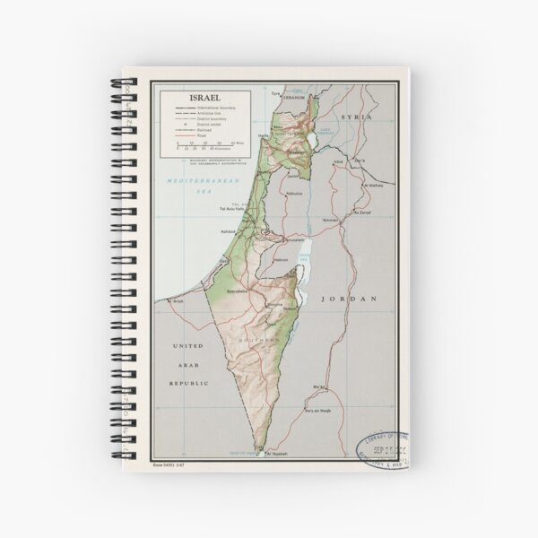 Map of Israel (1967) Spiral Notebook