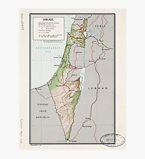 Karte von Israel (1967) Fotodruck