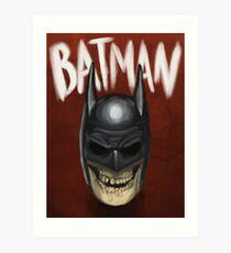 Batman skull Art Print