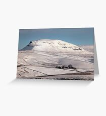 Penyghent From Langcliffe Greeting Card