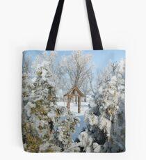 Snowy Scenery Tote Bag
