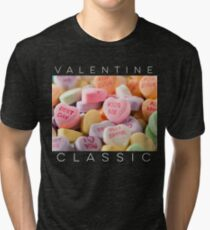 Valentine classic candy hearts graphic design  Tri-blend T-Shirt