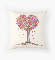 Love in the Fall Throw Pillow
