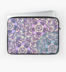 Aqua, Pink and Purple Doodled Pattern Laptop Sleeve