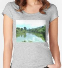 Finding peace Women's Fitted Scoop T-Shirt
