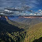 Govett's Leap Panorama by vilaro Images